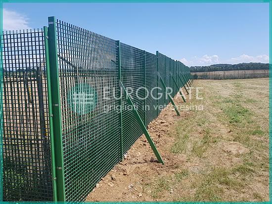 clôtures en caillebotis sur mesure pour héliport