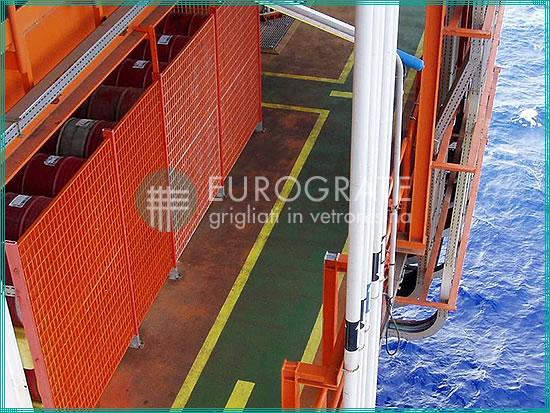 clôtures industrielles appliquées à une installation navale