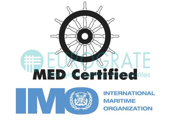 Eurograte Caillebotis IMO Conforme Formulaire B et D Nombre certificat: 0987
