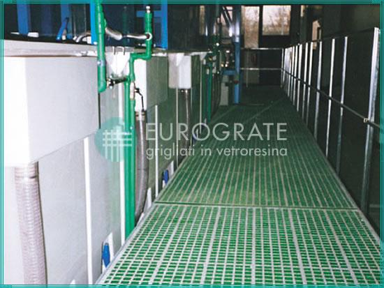 caillebotis clôtures pour le secteur du traitement des surfaces dans l'industrie galvanique