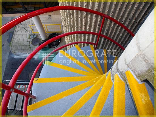 Couvre-marches destinés aux escaliers en colimaçon en ciment