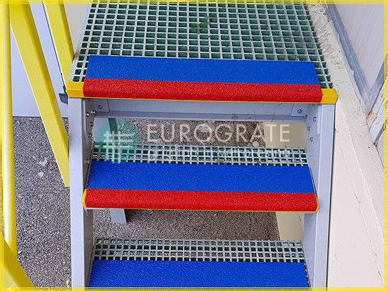 Couvre-marches pour sécuriser les marches en métal