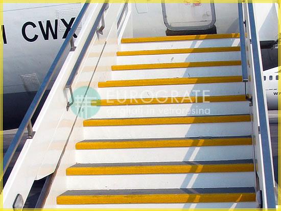 Couvre-marches pour les escaliers des avions