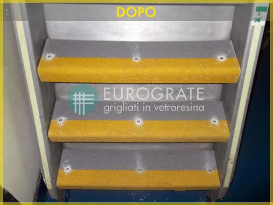 Après: le résultat avec les couvre-marches d'Eurograte