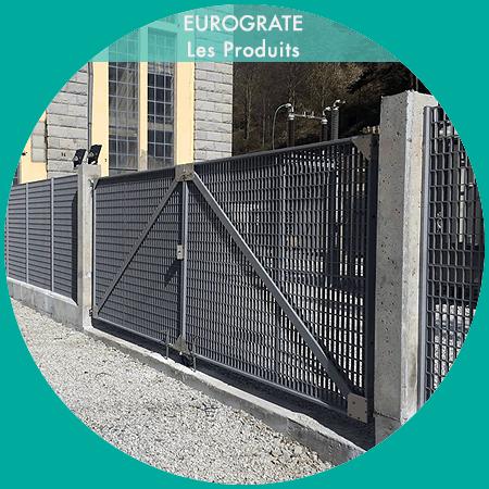 clôtures industrielles avec bobines électriques et portail automatique sur mesure