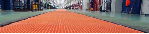caillebotis polyester et produits en fibre de verre à usage industriel et civil