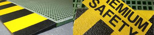 produits pour la sécurité : garde-corps de sécurité, cornières de sécurité, couvre-barreaux, plaques stratifiées en fibre de verre