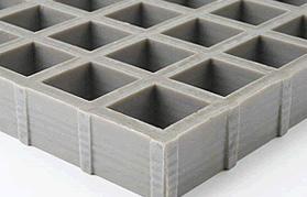 Caillebotis antidérapants concaves à surface antiglisse standard