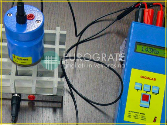 Kit d'essai pour vérifier la conductivité électrique des caillebotis