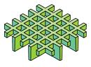 Caillebotis moulés à mailles ouvertes carrées micro
