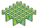 Caillebotis moulés à mailles ouvertes carrées mini