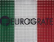 Eurograte Caillebotis avec les couleurs du drapeau italien