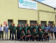 Siège d'Eurograte: caillebotis, profilés, garde-corps, échelles et clôtures en fibre de verre